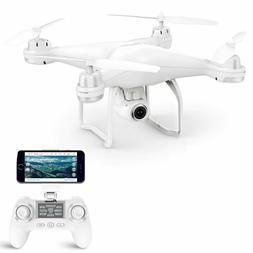 Beginner White Quadcopter Drone GPS 1080P HD Camera WiFi Vid