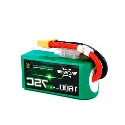 ACEHE 11.1V 1500mAh 75C 3S1P 16.65WH Capacity High Rate Lipo