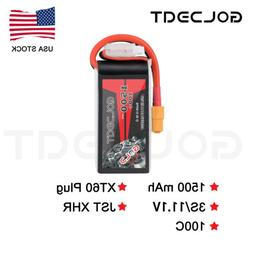 GOLDBAT 1500mAh 100C 11.1V 3S LiPo Battery XT60 Plug for RC
