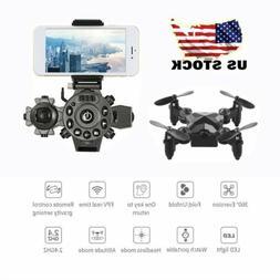 2.4G Mini Foldable Drone With Wifi FPV 3.0MP HD Camera 6-Axi