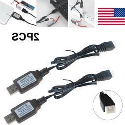2PCS 7.4V USB Cable Balance Charger for LiPo Battery RC Quad