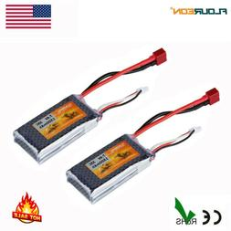 2x 2S 7.4V 1500mAh 35C LiPo Battery Deans for RC Car Truck A