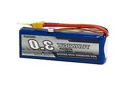 Turnigy 3000mAh 3S 11.1V 40C 50C Lipo Battery Pack w/XT60 FP