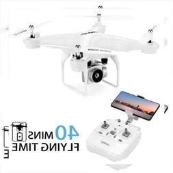 40Mins Flight Time Drone, JJRC H68 RC Drone with 720P HD Cam