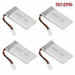 4pcs/set RC 3.7V 600mAh 25C LiPo Battery for RC Drone Quadco