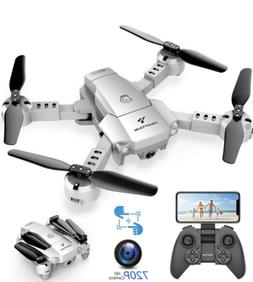SNAPTAIN A10 Mini Foldable Drone with 720P HD Camera FPV WiF