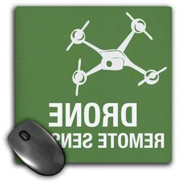 3dRose Big Green Drone Flying with Remote Sensing Mouse Pad