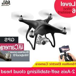 Clone DJI Phantom 4 !! GPS Drones 4K HD Camera 5G WIFI Brush