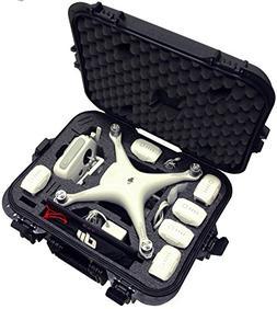 Case Club DJI Phantom 4 Waterproof Compact Drone Carrying Ca
