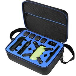 DJI Spark Drone Carrying Case by DOUBI - fit for 4 Drone Bat
