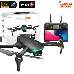 Drone 4K GD91 Pro w/ 2 axis gimbal stabilizer, GPS & Optical