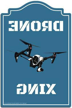 Drone Xing Decal | Funny Home Decor Garage Wall