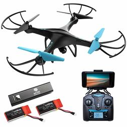 Force1 Drones With Camera  U45W-A Wi-Fi FPV Quadcopter Blue