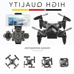 Foldable Mini Drone with 0.3MP Camera 2.4G RC Drone FPV Wifi