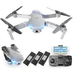 FPV Wifi RC Drone Wide Angle HD 4K Camera Foldable Quadcopte
