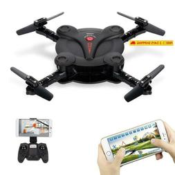 Goolsky Fq17W Mini Rc Quadcopter Foldable Drone With Wifi Fp