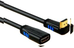 HDMI 2.0 Extension Cable, CableCreation 6 Feet Upward Angle