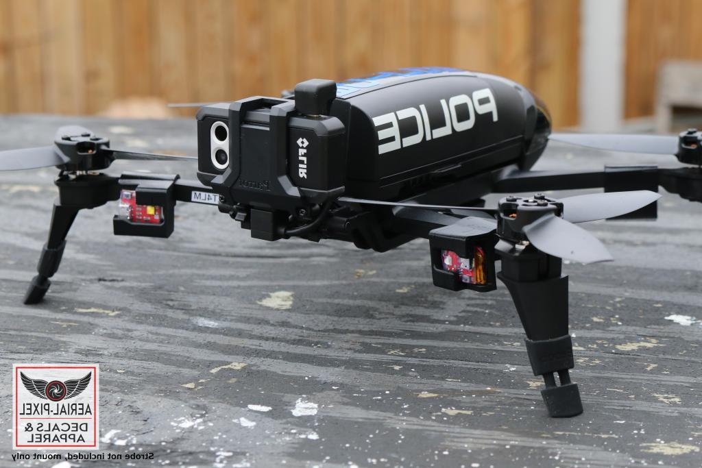 bebop 2 drone strobe mount for flytron