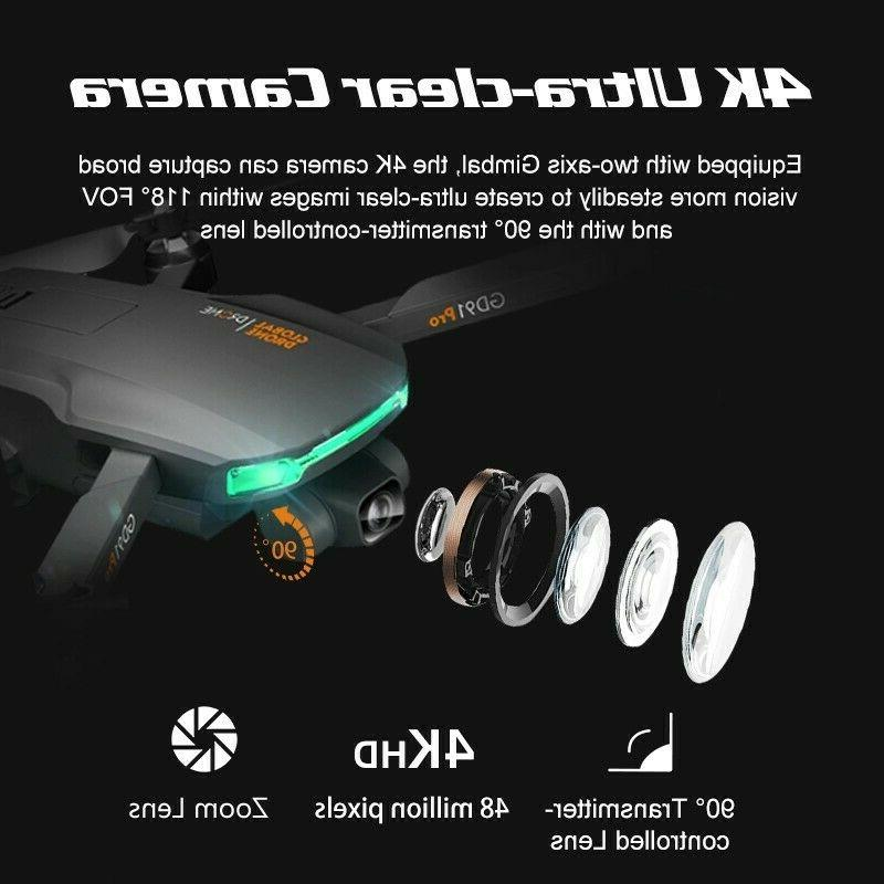 Drone 4K GD91 w/ axis gimbal Flow, triple camera