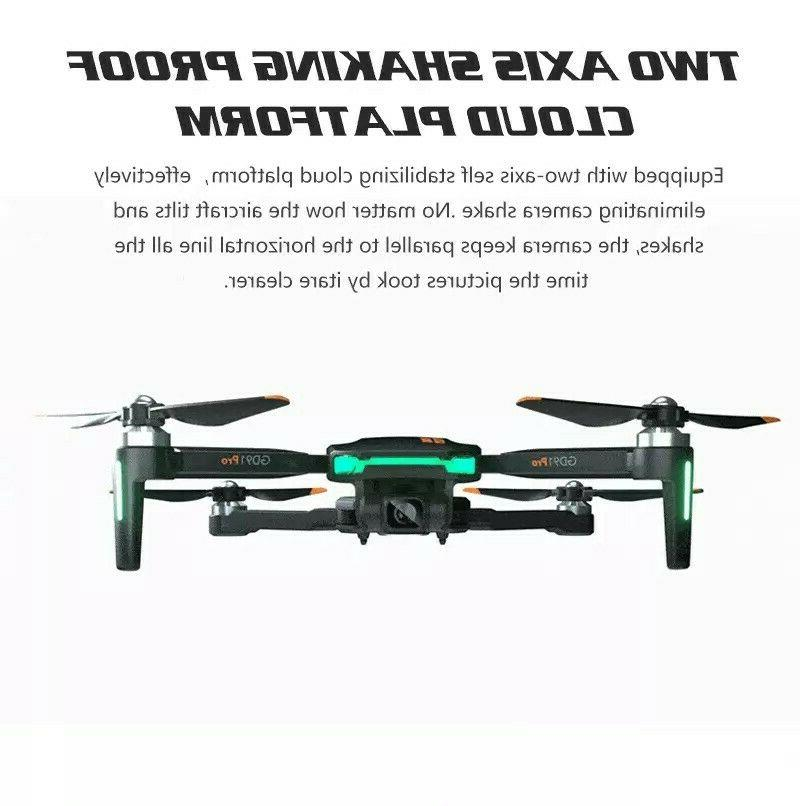 Drone 4K w/ stabilizer, GPS Flow, triple