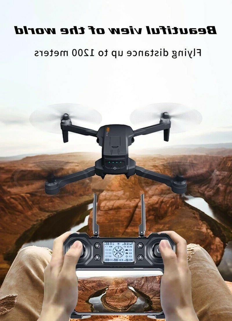 Drone 4K Pro w/ 2 stabilizer, GPS Flow, triple