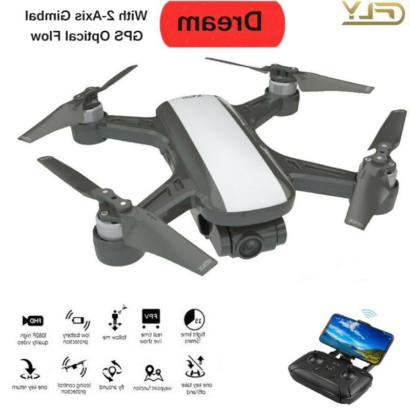 drone with hd camera gps 2 axis