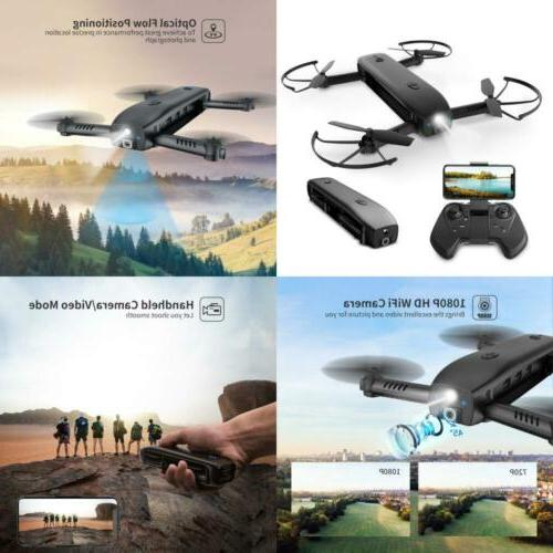 FPV Drone with Camera 1080P HD Foldable Drones for Adults wi