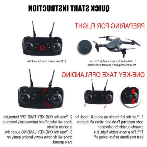 FPV Wifi Drone HD Camera Aircraft Selfie Toy Trajectory