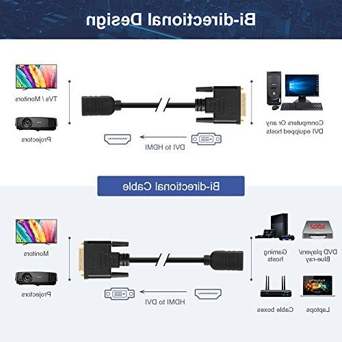 HDMI CableCreation HDMI to Male 1080P DVI to Conveter, 3D, 0.15M