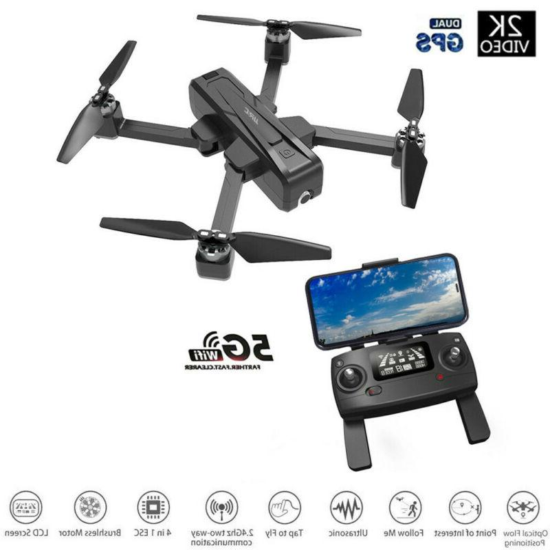 JJRC X11 5G WIFI FPV 2K HD Camera GPS Foldable RC Drone With