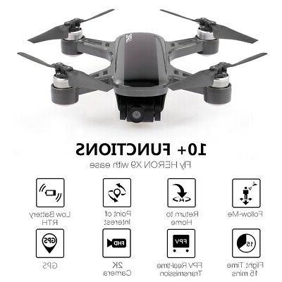 JJRC X9 Heron Brushless GPS RC Drone w/ Camera 2K 5G Wifi FP