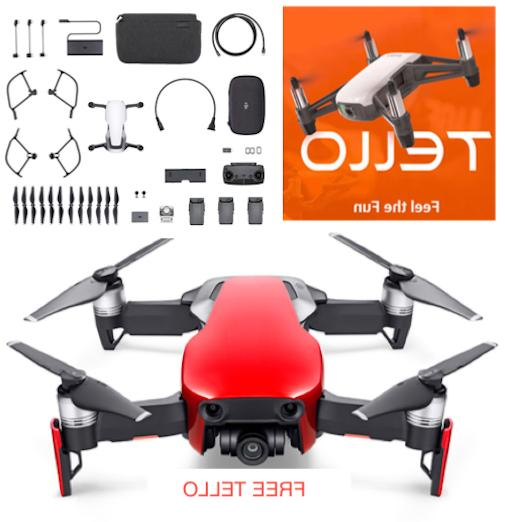 mavic air flame red drone fly more