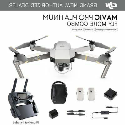 DJI Mavic Pro PLATINUM - Fly More COMBO Drone - 4K Stabilize