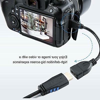 Mini CableCreation Mini-HDMI Female Adapter, Support