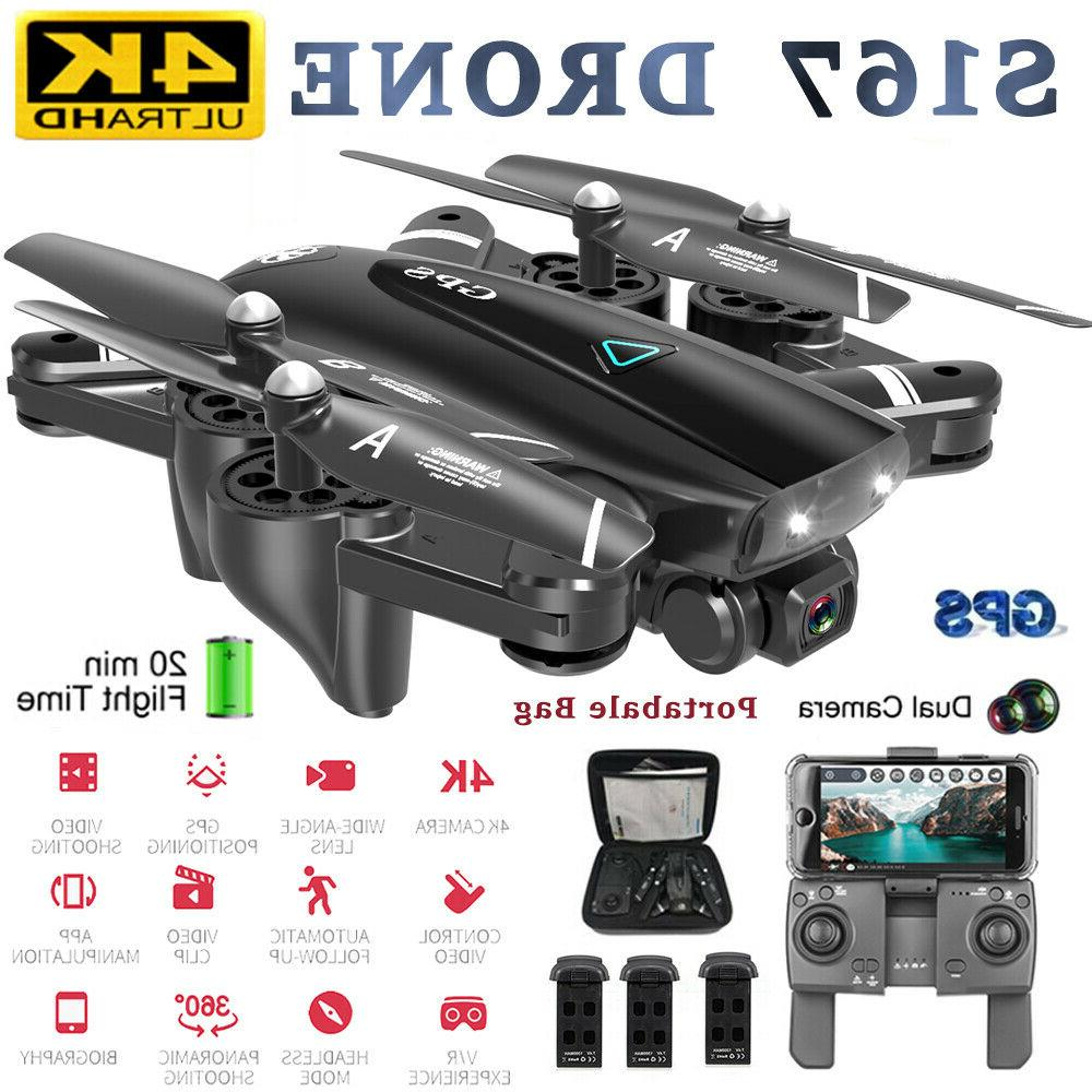 s167 pro gps rc drone with 4k