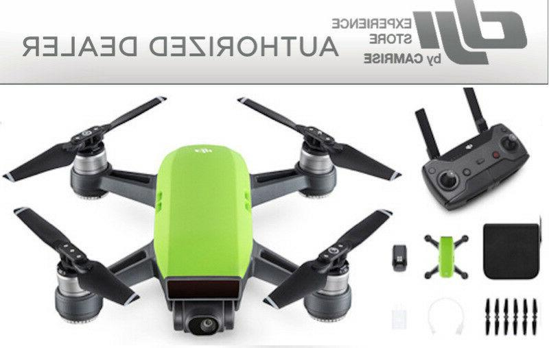 spark drone quadcopter green and remote controller