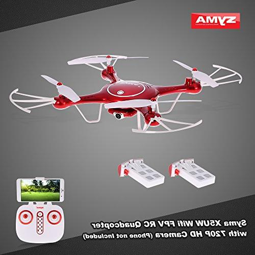 Goolsky with Drone Syma FPV 720P Camera with Barometer Height Function and Battery Quadcopter