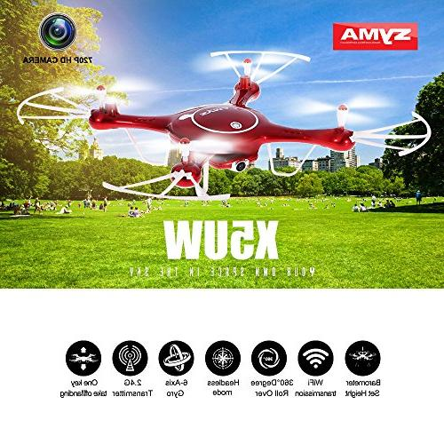 Goolsky Syma Drone FPV HD with Barometer Function and Battery