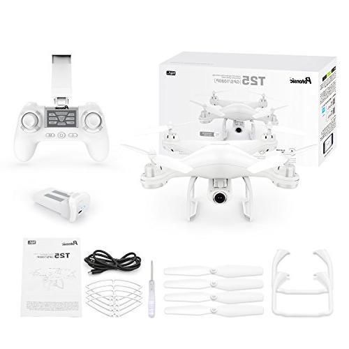 Potensic GPS RC Live Video GPS Return Home Quadcopter Adjustable Wide-Angle WiFi Camera- Follow Altitude Long Range