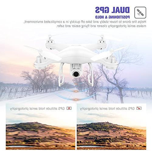 Potensic RC Drone with Live Video GPS Return Home Adjustable WiFi Camera- Me, Altitude Hold, Control Range
