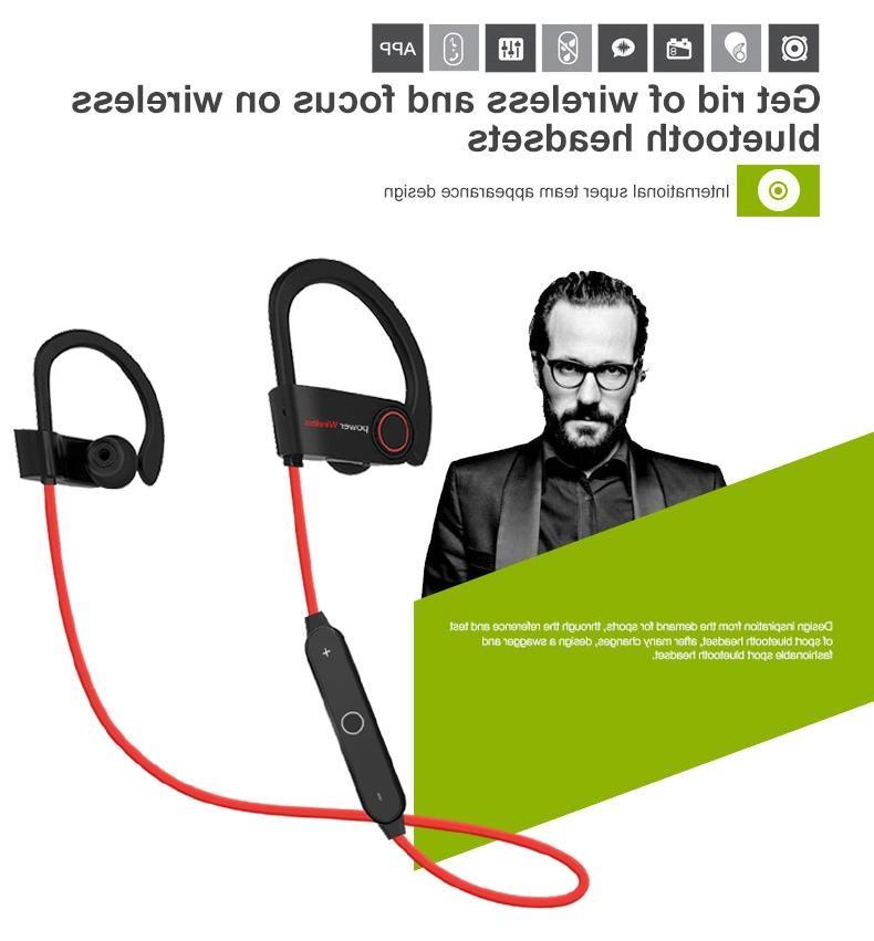 Waterproof Bluetooth Stereo Wireless Headphones in-Ear
