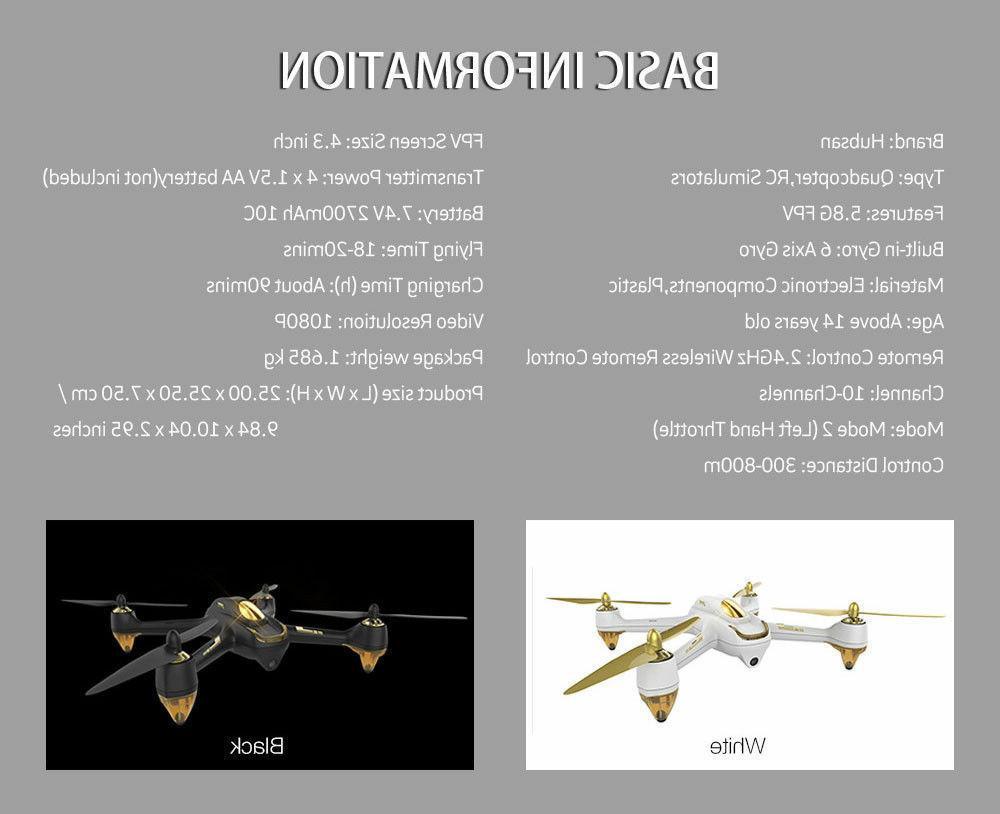 Hubsan H501S Pro Drone 5.8G 1080P Brusheless RTF,