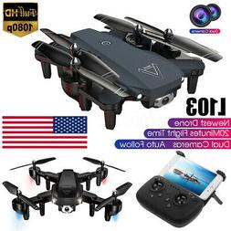 L103 2.4G GPS RC Drone Camera HD 1080P Dual Cam Wifi FPV Qua