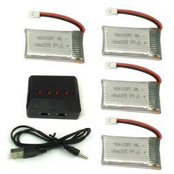 4pcs 3.7V 550mAh Lipo Battery Charger For Syma X5C-1 X5SW RC