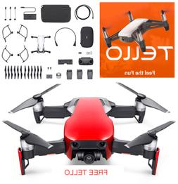 DJI Mavic Air - Flame Red Drone - Fly More COMBO - FREE TELL