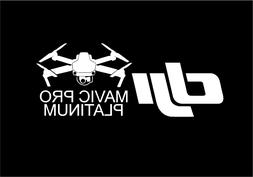 DJI Mavic Pro Platinum Drone Decal Sticker -- Free Ship