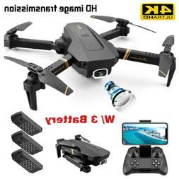 New 1080P Drone 4K HD Wide Angle Dual Camera WiFi FPV RC Fol
