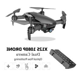 RC Drone With 1080P Dual Camera Follow Me Selfie Foldable Qu