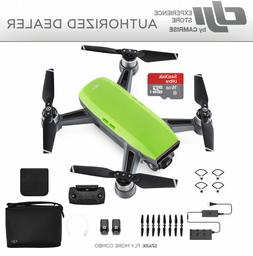 DJI Spark  Fly More Combo Drone Quadcopter in GREEN FREE 16G