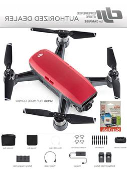 DJI Spark Fly More Combo enhanced bundle Drone RED includes